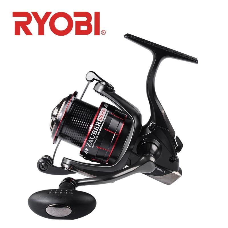 RYOBI ZAUBER CS Fishing Reel Spinning Wheel Feeder Fishing Reels 2500/3000/4000 Max Drag 8kg Saltwater Fishing Reel 6+1BB