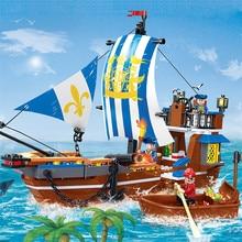 312Pcs Royal Ship Building Blocks Sets Legend Of Pirates Educational Toys For Children Bricks