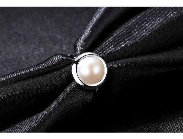 S925 sterling argento anello perla naturale classico selvaggio femminile anello regalo SR01
