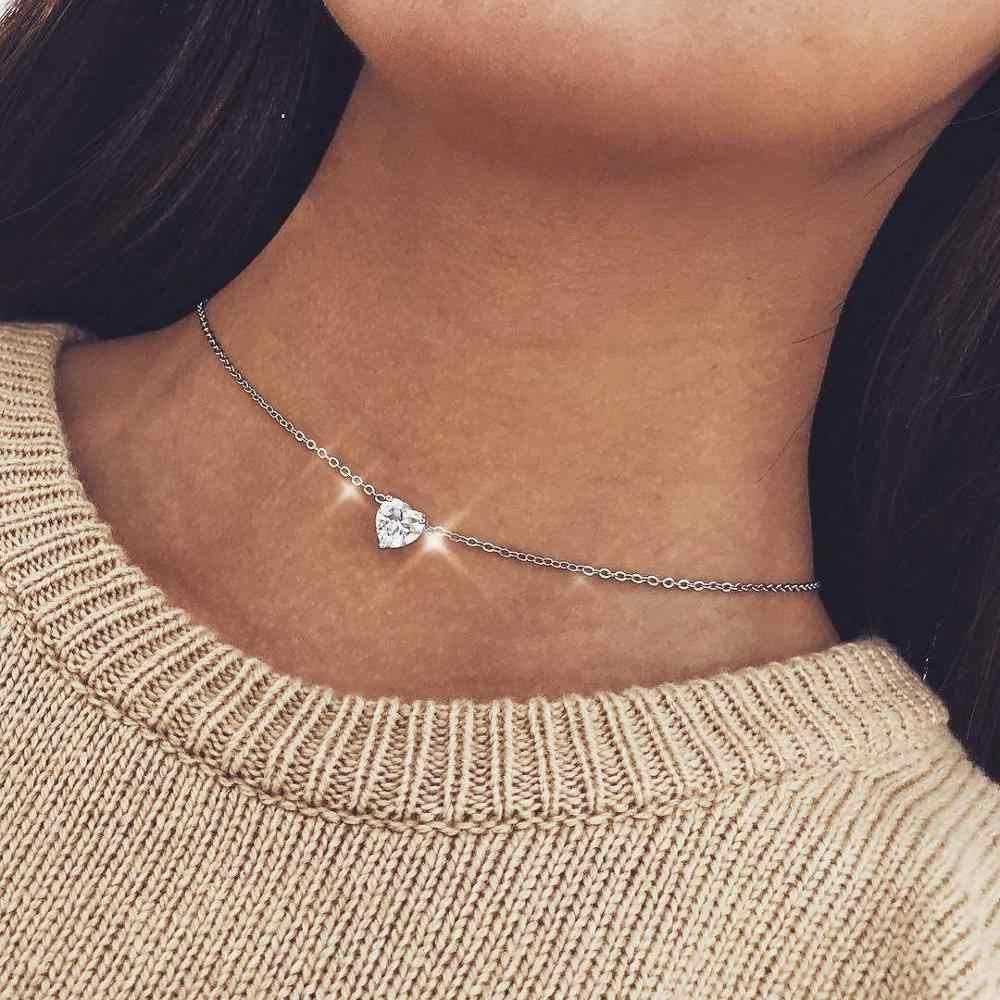 Neue Mode Doppel Horn Halskette Halbmond Drop Halskette Boho Schmuck Minimal Braut Geschenk Tropfen Verschiffen