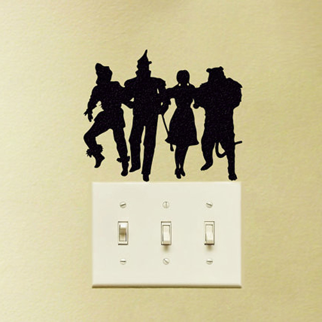 Black creative band diy wall stickers switch sticker home decoration wallpaper jg1852