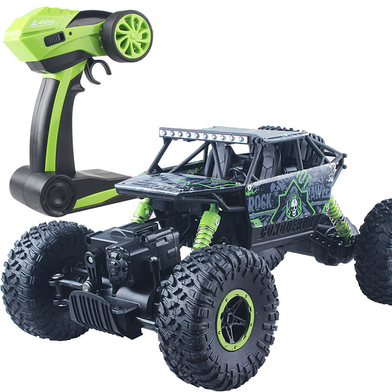 2 Batteries RC Car 4WD 2.4GHz Rock crawl Rally climbing Car Double Motors Bigfoot Car Remote Control Model Off-Road Vehicle Toy