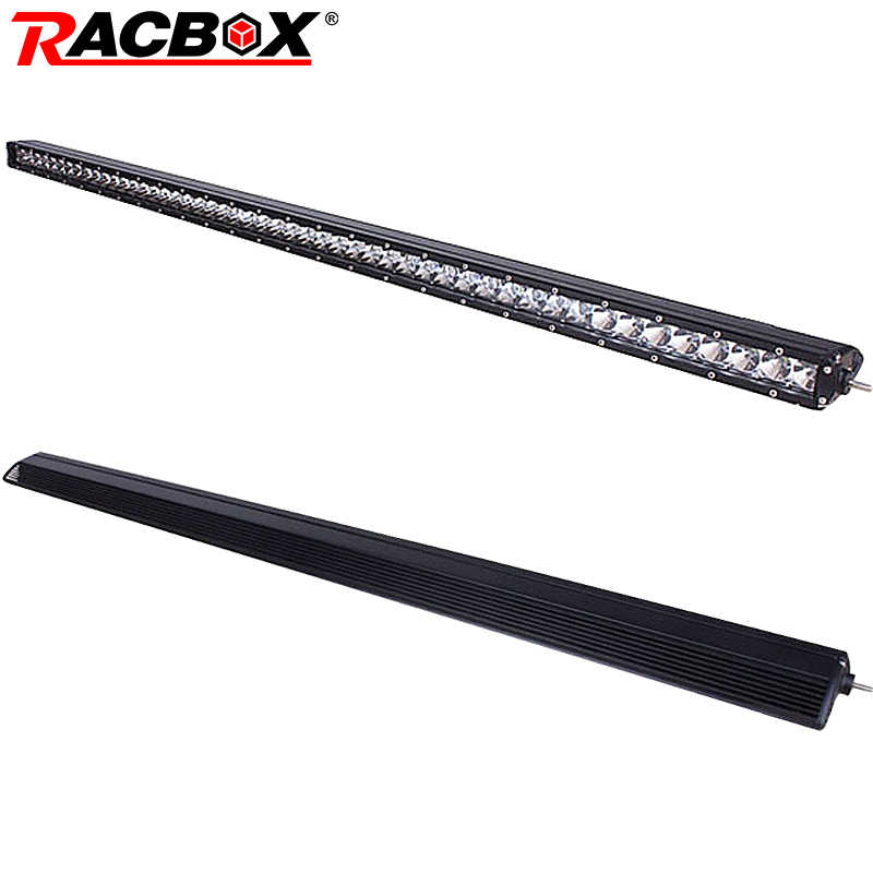 "RACBOX 50"" 51 Inch 250W LED Light Bar Combo Off Road 12V 24V IP67 For Trailer Marine Truck Boat Tractor Car Roof Bar Work Light"