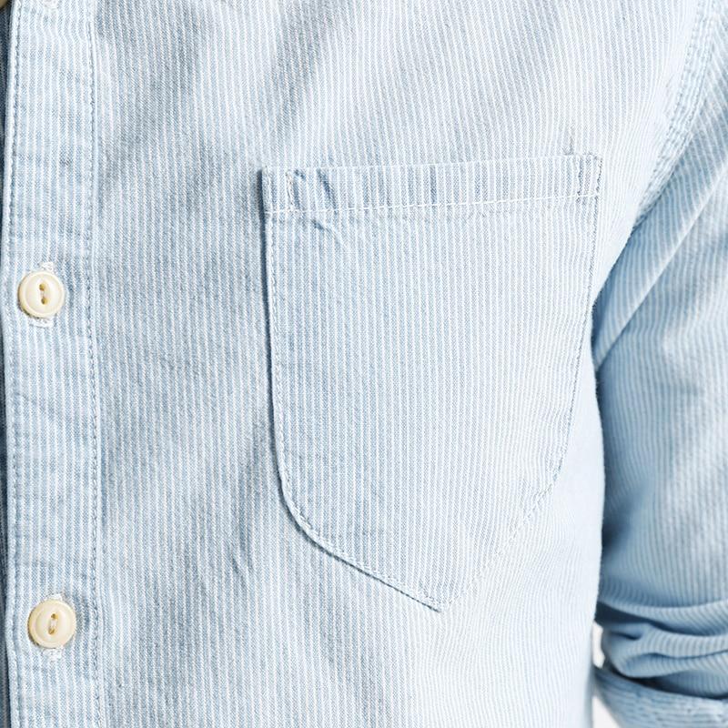2019 SIMWOOD Mærke Herre Casual Shirts foråret forår Langærmet - Herretøj - Foto 4