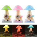 2017 Aladdin magicMushroom Table Clock Lamp Creative Desk Alarm Night Light Bedroom Sleep  practical lighting bedside lamps