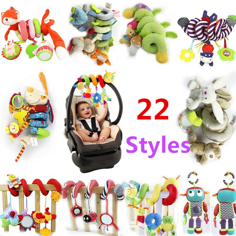 HAPPY MONKEY Musical Soft Baby Rattles Bed Stroller Toys