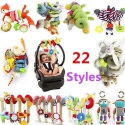 TOP Verkauf Infant Musical Weichem Plüsch Kaninchen Bär Hund Roboter Baby Rasseln Hängen Bett Kinderwagen Stern Beißring Rassel Handys Baby spielzeug