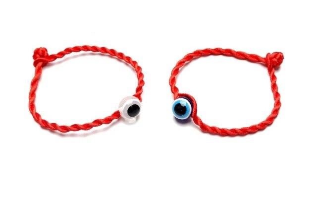 Lucky Eye Red String Bracelet Evil Jewelry Kabala Good Luck Protection For Women Men