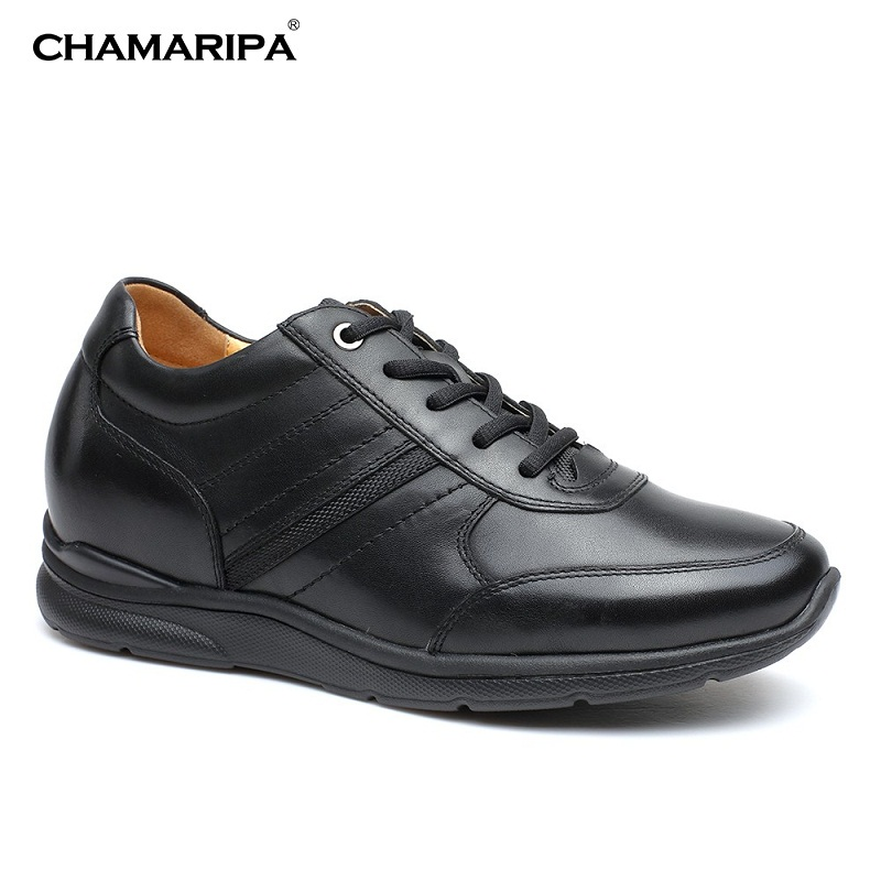 CHAMARIPA Elevator Shoes Men Black Gentlemen Increase Height 6cm/2.36 inch Casual Taller Cow Leather Shoes H71C50V012D elevator shoes male leather elevator 6cm men s commercial elevator 8cm men s new arrival lacing shoes