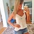 Blusas Femininas 2016 Танк Симпатичные Женщины Блузка Тропический Кружева Жилет Топы Повседневная Блузка Дешевая Одежда Китай Ропа Mujer B2 #
