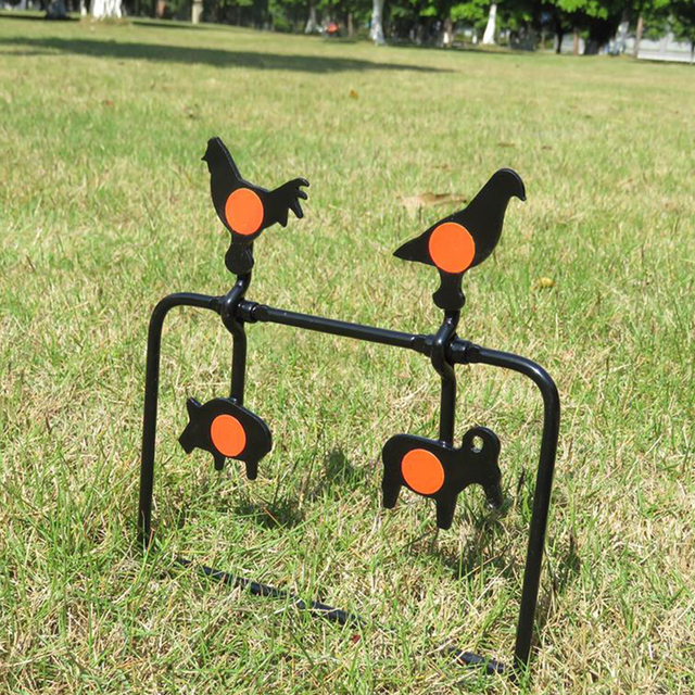 4 Four Animals Targets Automatic Reset Rotating Shooting Target For Hunting Shooting Accessory