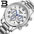Швейцарские мужские часы  роскошные брендовые наручные часы BINGER  механические  полностью из нержавеющей стали  водонепроницаемые  B6036-15