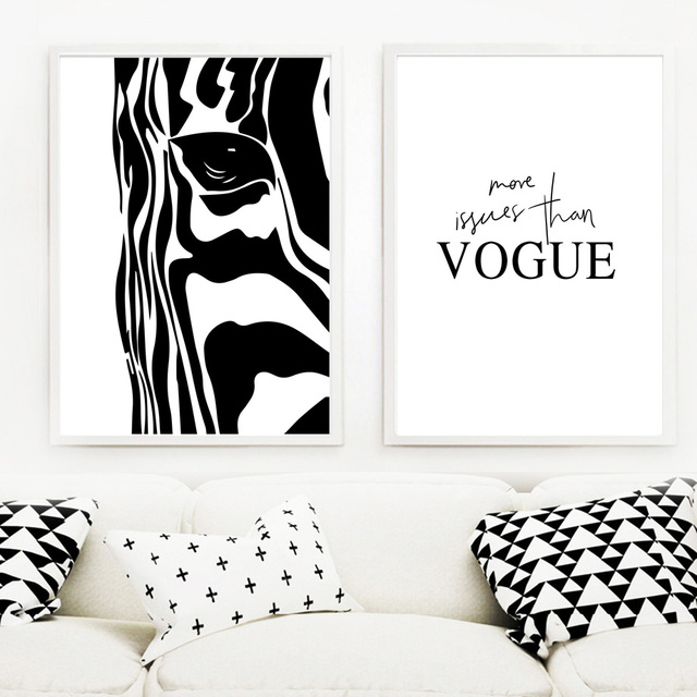 Zebra Green Plant Leaves Vogue Wall Art  1