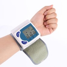 Portable Health Care Home Automatic Wrist Digital LCD Blood Pressure Monitor Tonometer Meter for Measuring Pulse Rate