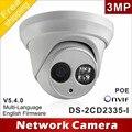 Envío libre Nuevo modelo DS-2CD2335-I reemplazar DS-2CD2332-I 3mp array 30 m IR Domo de Red ip security camera H265