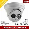 Frete grátis Novo modelo DS-2CD2335-I substituir DS-2CD2332-I 3mp matriz 30 m IR Rede Dome câmera de segurança ip H265