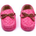 Newborn Infant Baby Girls Boys Casual Slip-On Buttery-Knot Decor Cotton Faux Leather Loafers Crib Shoes Sneakers Walking Shoes