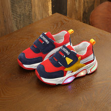 Toddler Kids Shoes Luminous Rubber Soft Bottom Girls Sneakers Baby Boy Led Shoes Breathable Sport Children's Casual Shoes 1*Pair(China)