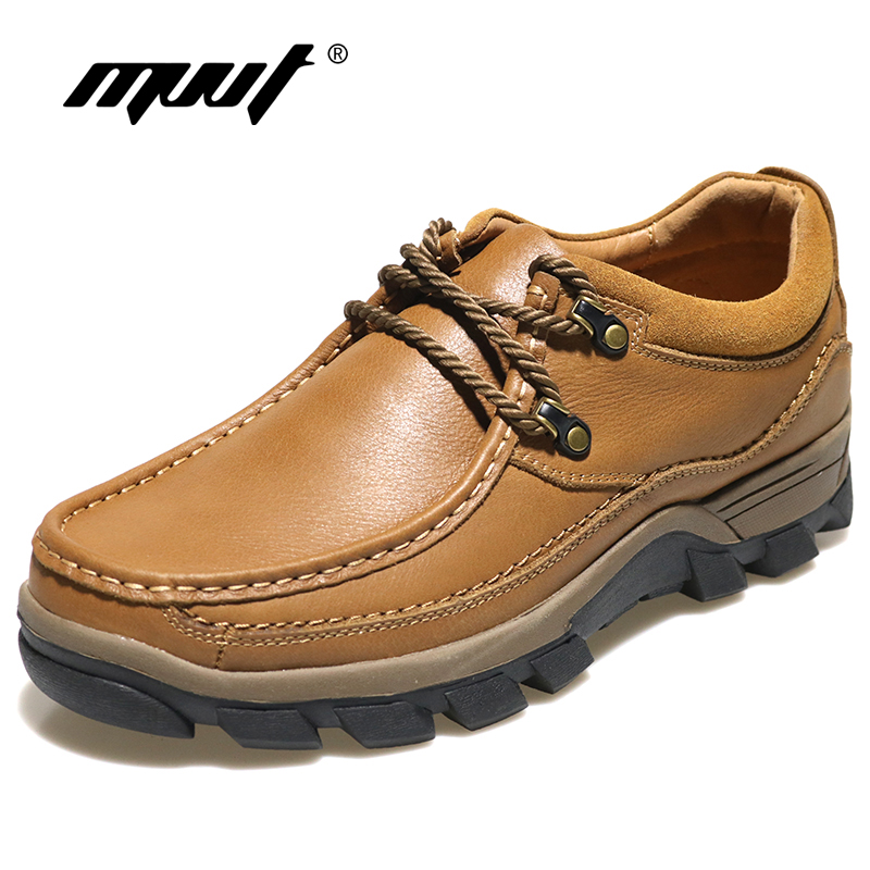 MVVT Genuine Leather Shoes Men Winter Boots Top Quality Men Outdoor Shoes For All Season Men Ankle Boots Nubuck Leather Shoes men s construction steel toe boots genuine leather short engineer insulated and water resistant wheat nubuck shoes sizes 7 13