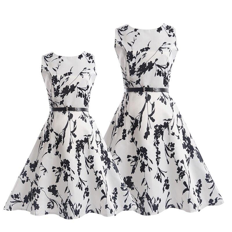 Trouwjurk voor meisjes Mom dochter jurken Zomer feestkleding Familie - Kinderkleding - Foto 4