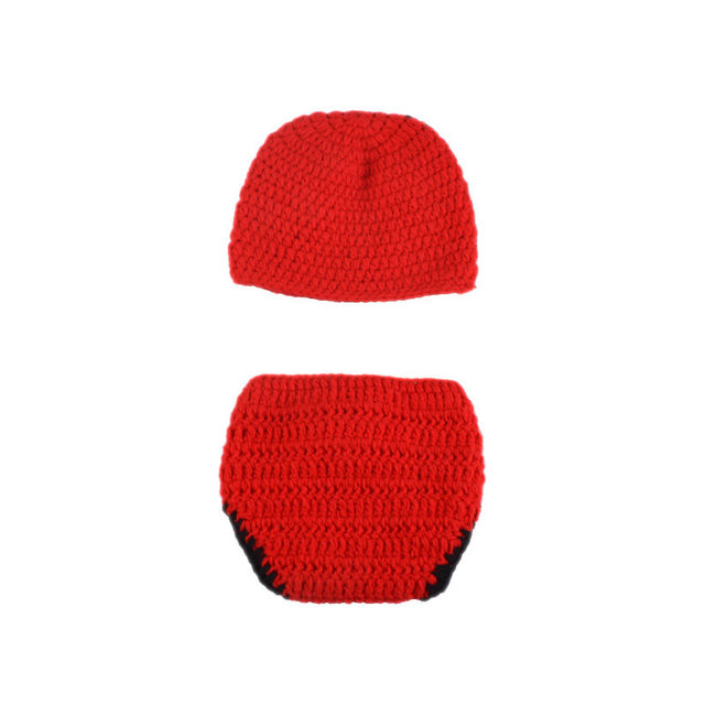 Online Shop Crochet Baby Boys Deadpool Photo Prop Knitted Newborn