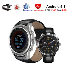 Купить с кэшбэком X5 Air Smart Watch RAM2GB ROM 16GB MTK6580 Wearable Bluetooth Heart rate Wifi GPS Watch Phone Android5.1 3G Smartwatches For IOS