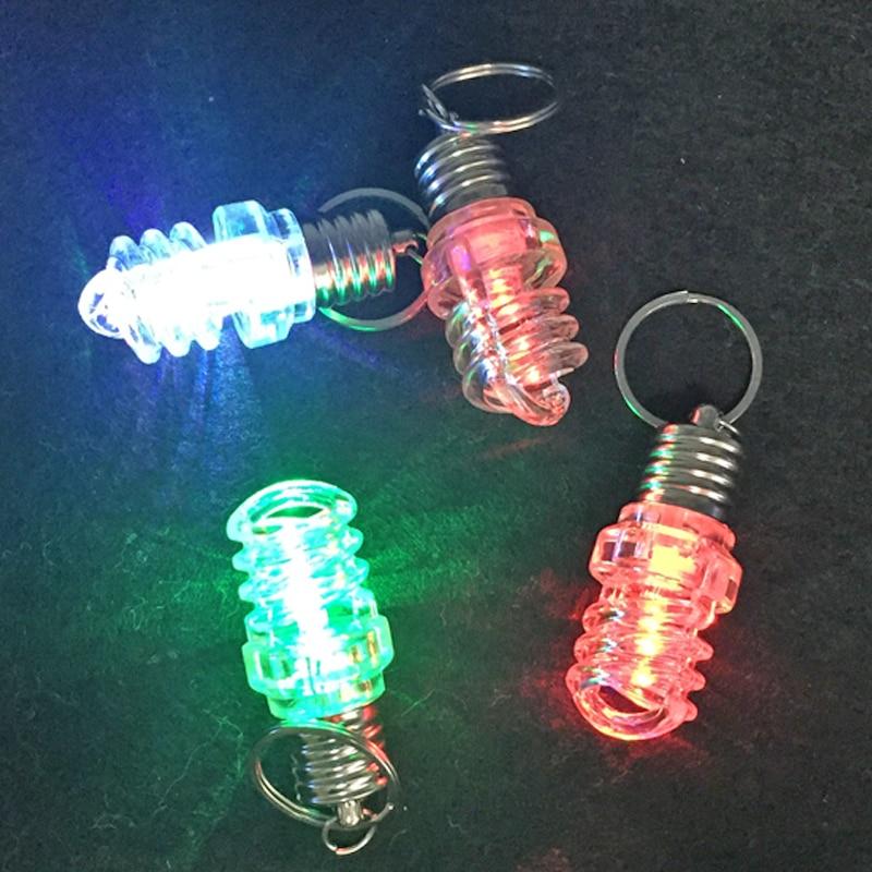 25pcs / παρτίδα Νέο βίδα σχεδίασης Clear LED φώτα λάμπα λαμπτήρα Keychain φακός λαμπτήρα παιχνίδια για τα παιδιά