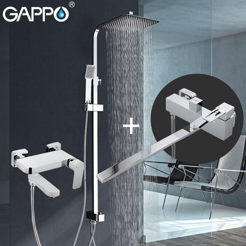 GAPPO shower faucets waterfall faucets bath shower mixer faucet bath tub brass rainfall Bathtub taps shower
