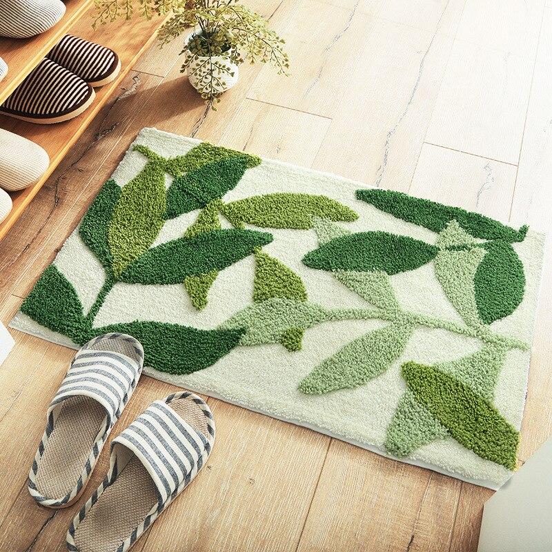 Leaf bath mat custom e track straps