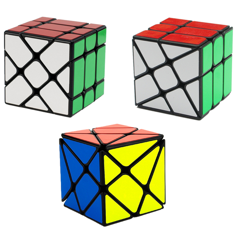 3 PCS Strange-Sharp Magic S Cube Profesionální 3X3X3 Vzdělávací Učení Hračky Hračky Puzzle Speed Cube Abnormity Magico Cubo