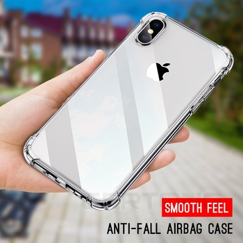 GerTong Shockproof Clear Silicone Case For iPhone 7 8 6 6SPlus X Case Capa For iPhone XS Max XR 5S 5 Anti-Knock Phone Cover Case image