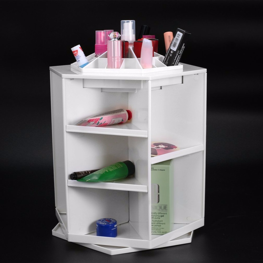 все цены на 360 Degree Rotation Rotating Make up Organizer Cosmetic Display Brush Lipstick Storage Stand Cosmetic Accessories онлайн