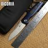 DICORIA Ellipsis Original Folding Knife Titanium Handle M390 Blade Ball Bearing Outdoor Gear Tactical Hunting Camping
