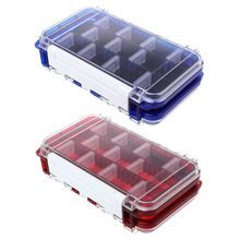 Fishing Case Double Layer  Grids Compartment Box Storage Portable Waterproof Lure Baits Hooks Organizer Tackle Accessories