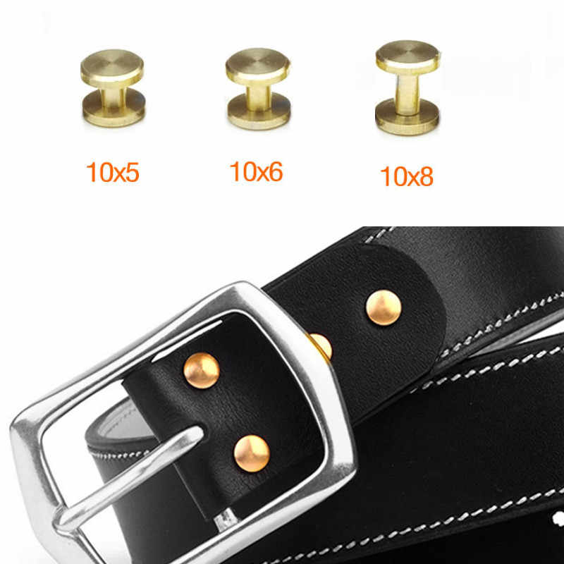 5mm/6mm/8mm DIY Luggage Leather metal Craft Solid Screw Nail Rivet flat Head Belt/strap Rivets Book screws craft copper Wh