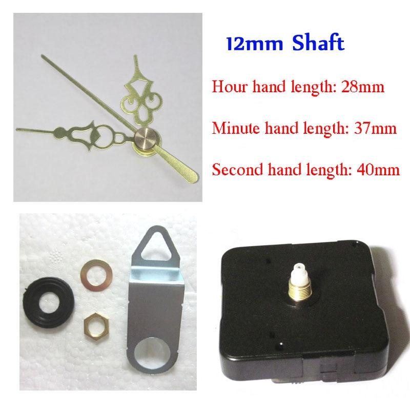 10 개 고품질 시계 피팅 음소거 석영 시계 운동 시계 메커니즘 수리 DIY 시계 부품 액세서리 짧은 샤프트