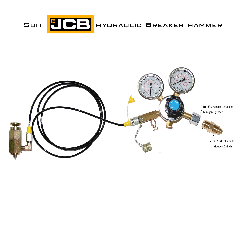 XZT Nitrogen Gas Charging Kit For JCB Brand Hydraulic Breaker Hammer