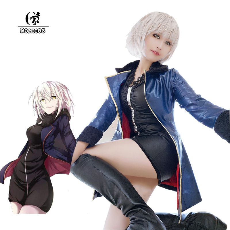 ROLECOS Anime FGO Fate/Grand Order Cosplay Costumes Black Saber Kyrielight Mash Cosplay Costumes Costume Leather Clothes