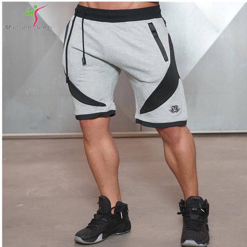 2016 summer New Brand High Quality shorts men Bodybuilding shark and shorts golds jogger shorts M