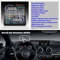 Dla Audi A3 2014 2015 2016-samochodów HUD wyświetlacz Head Up-bezpiecznej jazdy ekran projektora odbijający szyby