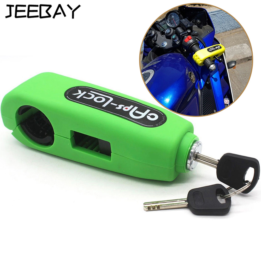 Universal Motorcycle Grip Anti Theft Security Lock Scooter Handlebar Lock Moto Brake Protection Lock With Two Key For Yamaha