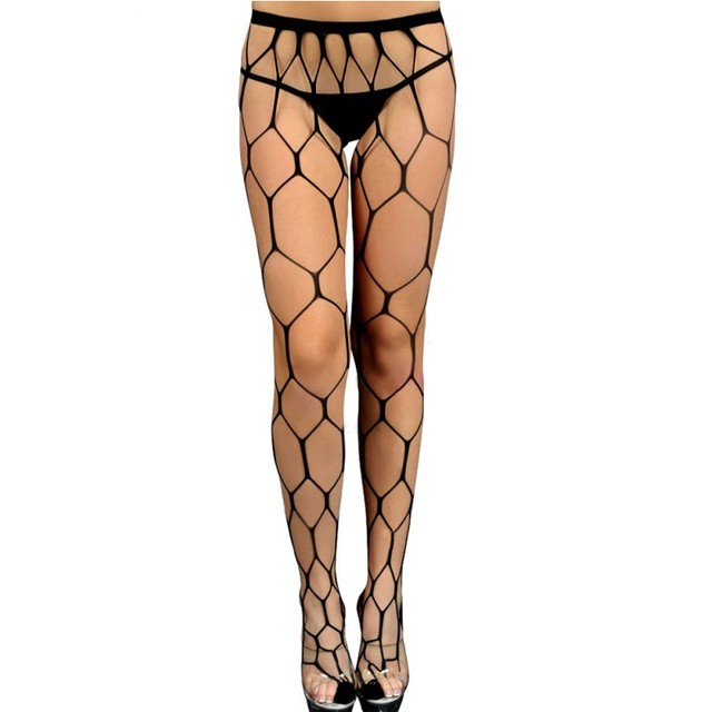038facda6 2017 New female stockings lingerie sultry hexagon hollow out sexy black  fishnet pantyhose stocking nylon spandex fabric SA79908
