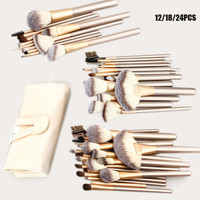 12 18 24pcs Professional Makeup Brushes Set Kit Woman S Foundation Powder Eyeliner Lip Beauty Tools