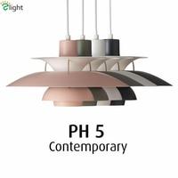 2016 Painted Metal Louis Poulsen PH50 Led Pendant Light Colorful Dia50cm Umbrella Design Colorful Suspend Light