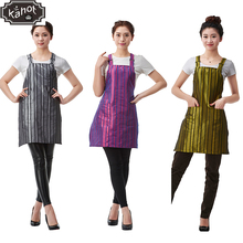 1pcs Professional Hairdressing Apron Korean Style Stripe Hair Cutting Bib Barber Styling Salon Hairdresser Household Waist Cloth