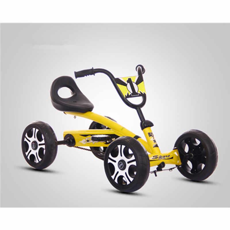 Stopy gokart na pedały dzieci jazdy na samochód zabawki 4 koła rowerowe Push rower dla 2-6 lat chłopcy dziewczyny urodziny prezenty aktywności na świeżym powietrzu