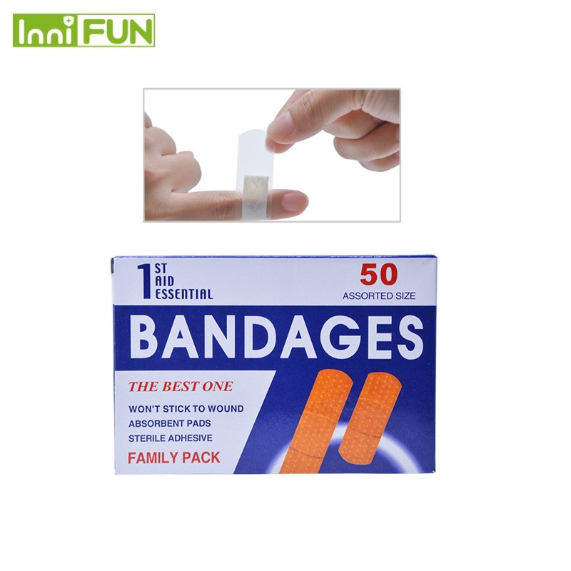 Independent 50pcs Breathable Disposable Waterproof Adhesive Bandage First Aid First Aid Kit Medical Hemostatic Stickers Kids Children Adult Mother & Kids