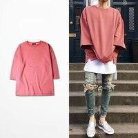 2016 New Half Sleeve T Shirts Oversized Men Tees Homme Kanye WEST Style Clothing T Shirt