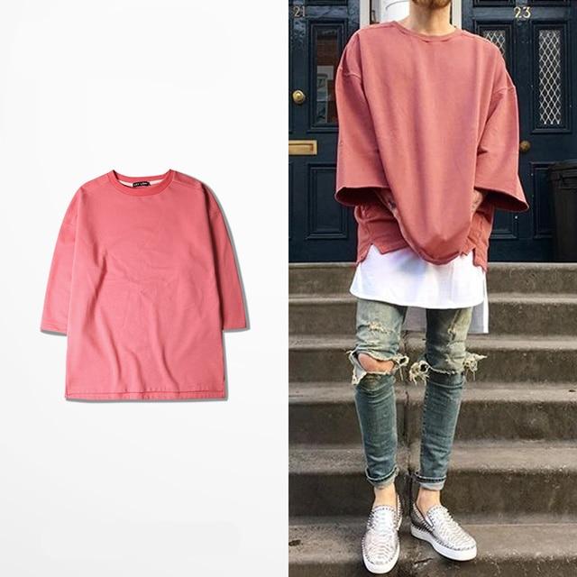 15559ca33 2016 new half sleeve t shirts oversized men tees homme Kanye WEST style clothing  t-
