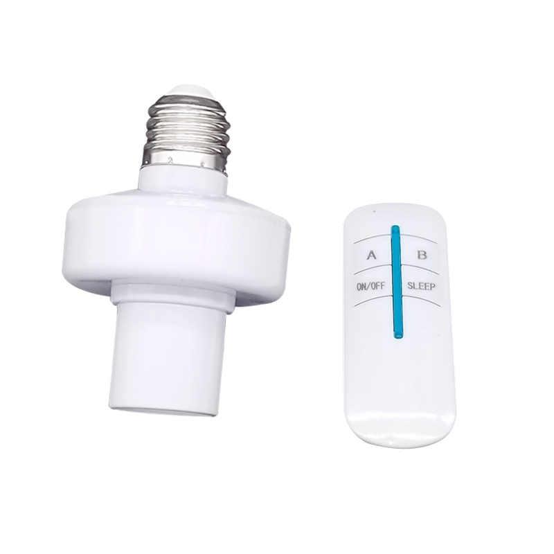 E27 Wireless Remote Control Light Lamp base oN/off/Sleep Switch Socket Holder rc smart device 240V 220V